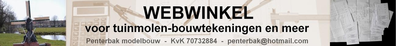 Welkom in de webshop van Penterbak, bouwtekeningen en materialen voor de molenaars