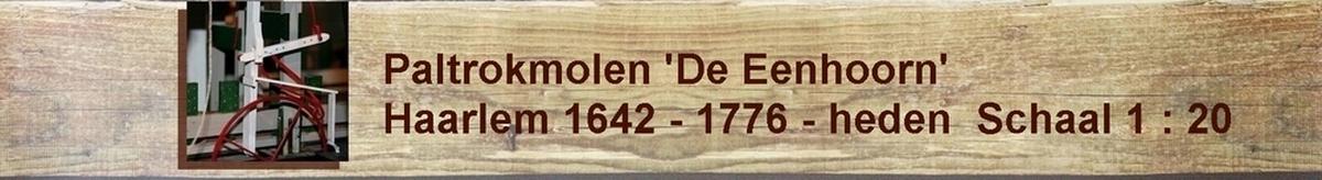 Paltrokmolen molen molenmodel eenhoorn zaagmolen