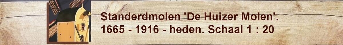 standerdmolen molenmodel molen Huizen postmill