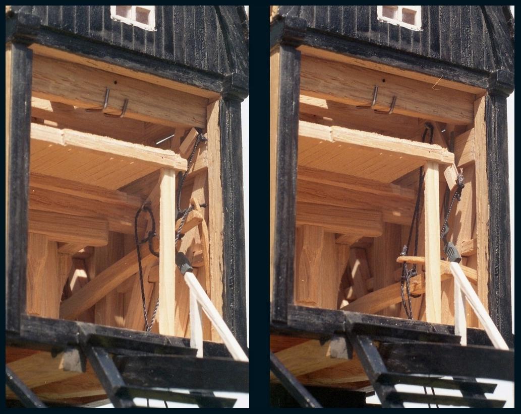 Penterbak bouwt De Zandwijkse Molen. Werking van de vang.