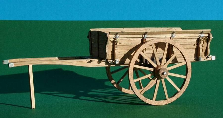 Penterbak bouwt een molenaarskar.