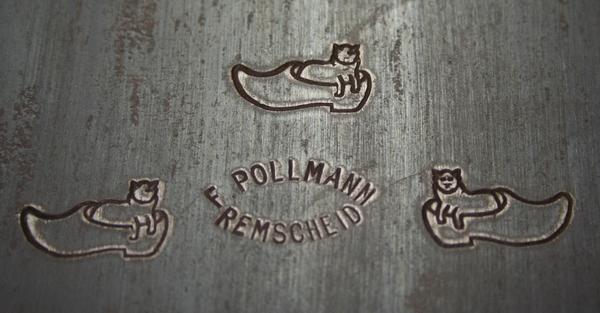 fabrieksmerk van Pollmann op een zaagblad