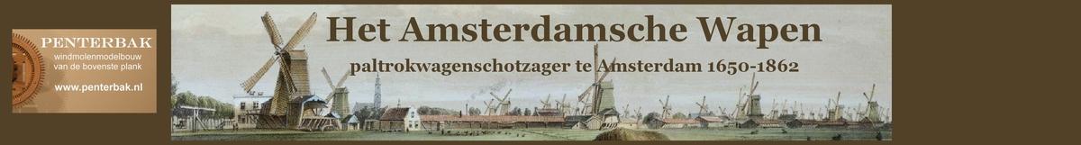 Penterbak bouwt Het Amsterdamsche Wapen