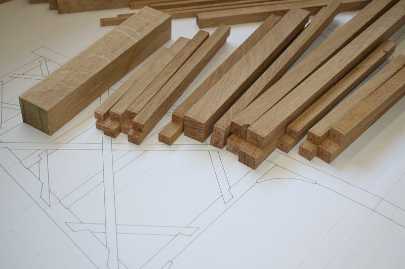 een deel van de houtvoorraad