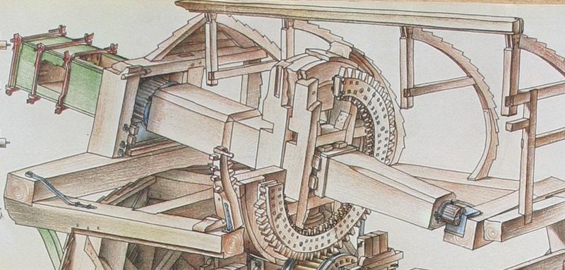 modelbouw penterbak molen