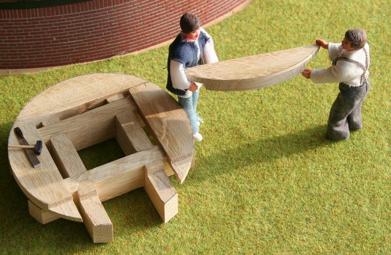 model modelbouw molen penterbak