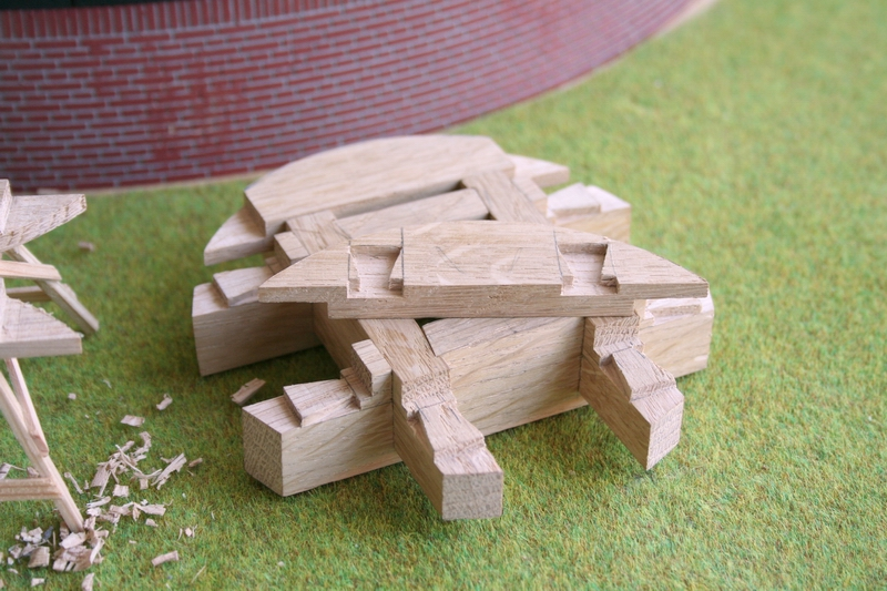 model bouw schaalmodel molen penterbak