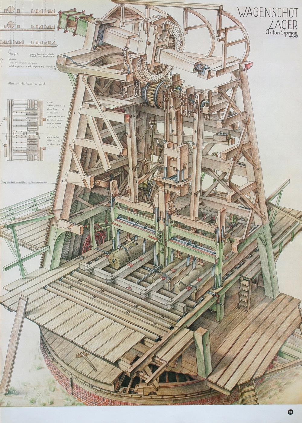 De tekening van Anton Sipman