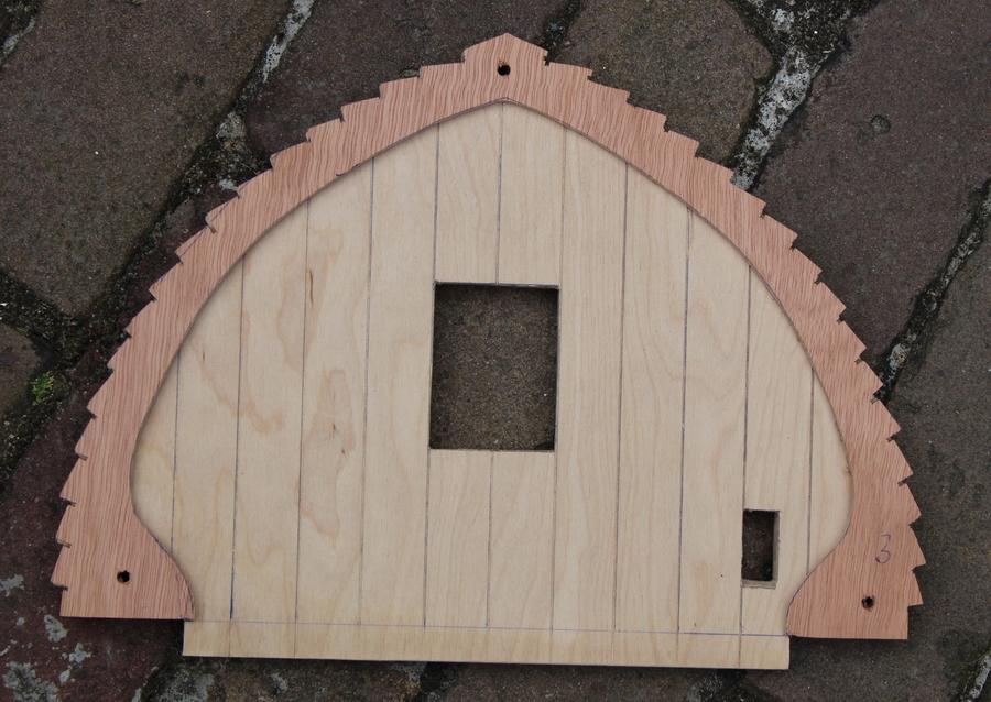 Penterbak levert de bouwtekening van deze prachtige tuinmolen schaalmodel van de Wipmolen van de Schoterveenpolder