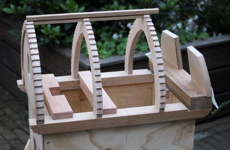 Penterbak modelbouw tuinmolen van de wipmolen van de Schoterveenpolder
