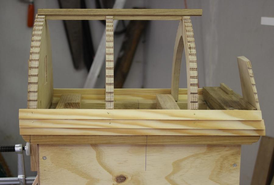 bouwtekening van de wipmolen van de Schoterveenpolder Penterbak modelbouw
